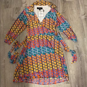 New laundry wrap dress